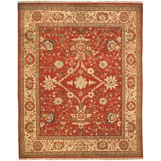 Oushak Hand-knotted Oushak Wool Rug (6' x 9')