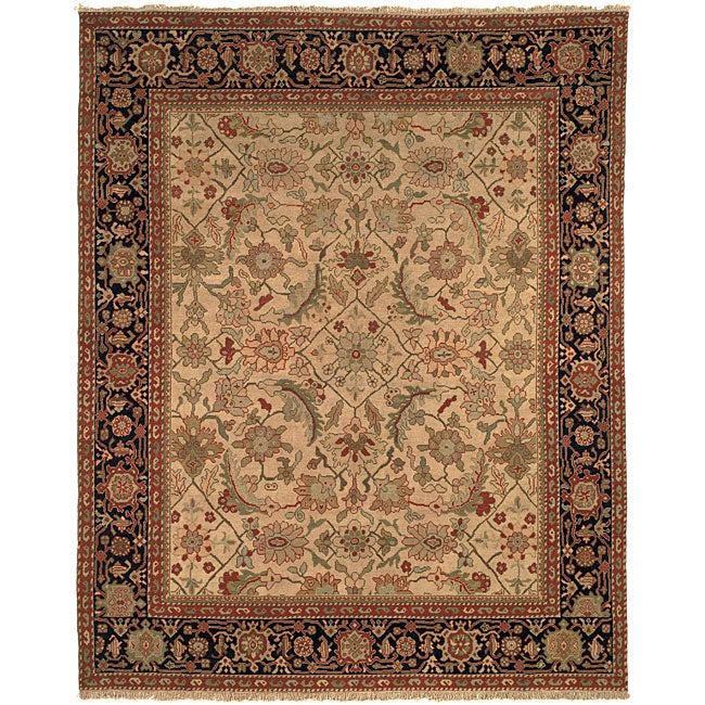 Oushak Hand-knotted Hand-spun Wool Heirloom Rug (8' x 10')