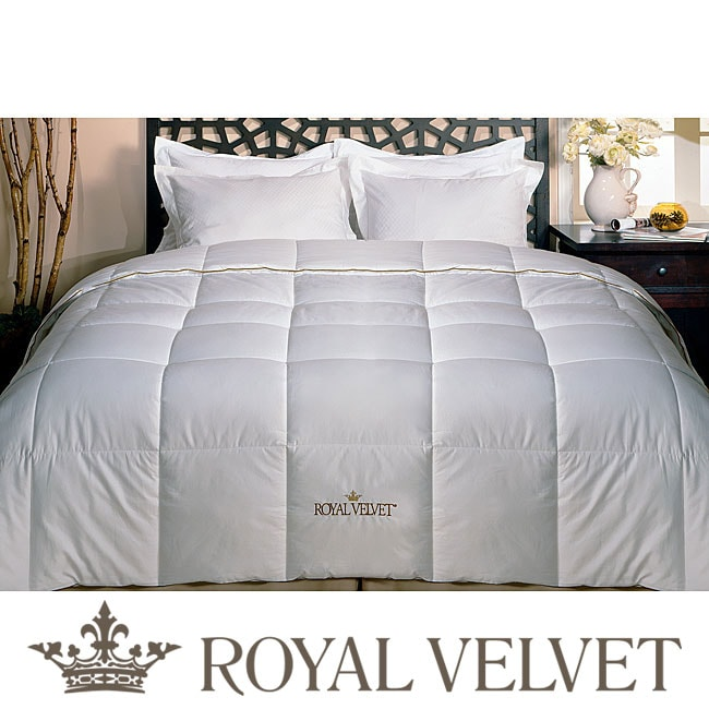 royal velvet 250 thread count twin size down comforter free shipping on orders over 45. Black Bedroom Furniture Sets. Home Design Ideas