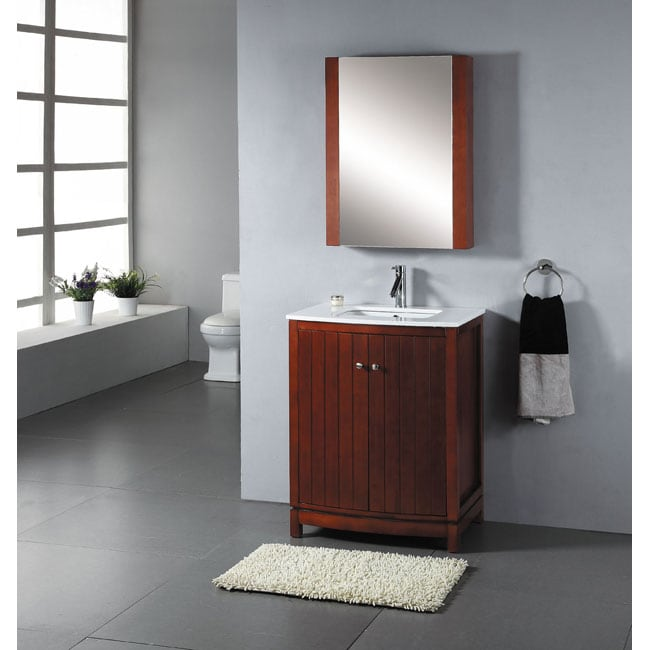 Contemporary 27 Inch Bathroom Vanity White