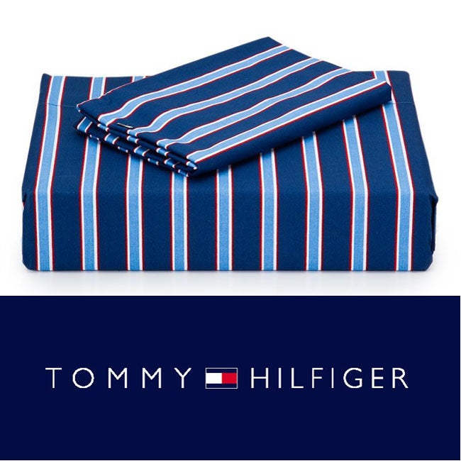 Tommy Hilfiger Christopher Stripe 200 Thread Count 4-piece Sheet Set (Full/Queen)
