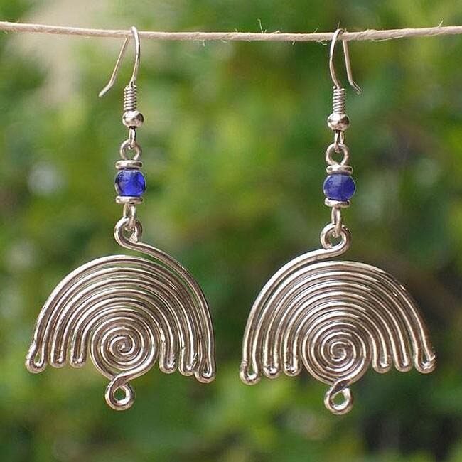 Balance Silver Plated Earrings (Kenya)