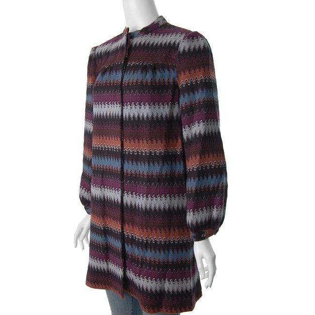 W.D.N.Y. Women's Multicolor Knit Jacket