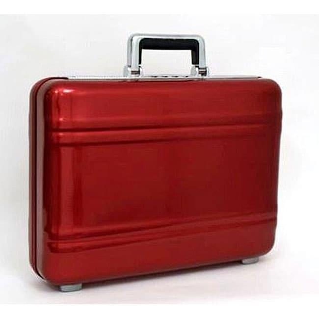 Zero Halliburton 5-inch Merlot Red Premier Series Attache Case