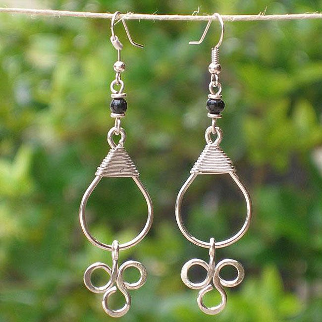 Silverplated 'Three Tips of Africa' Earrings (Kenya) - Thumbnail 0