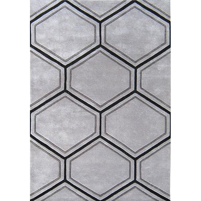 Alliyah Handmade Honeycomb New Zealand Blend Wool Rug (5' x 8')