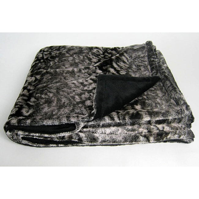 Snow Leopard Microplush Throw Blanket