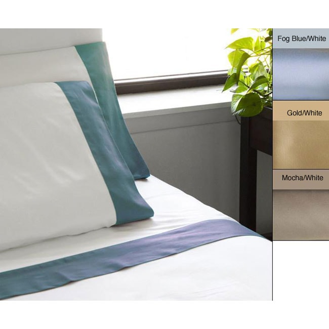 Egyptian Cotton 600 Thread Count Contrast Cuff Sheet Set
