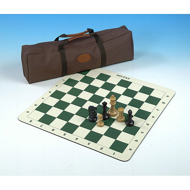 Roll Up Chess Board with 3.75-inch Chessmen