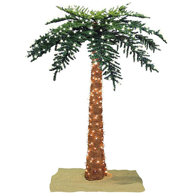 Faux Tropical Royal 7-foot Pre-lit Palm Tree - Free Shipping Today - Overstock.com - 12329521