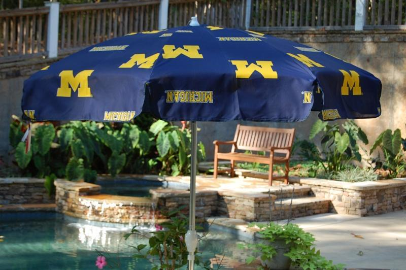 University Of Michigan 7 5 Foot Patio Umbrella Free