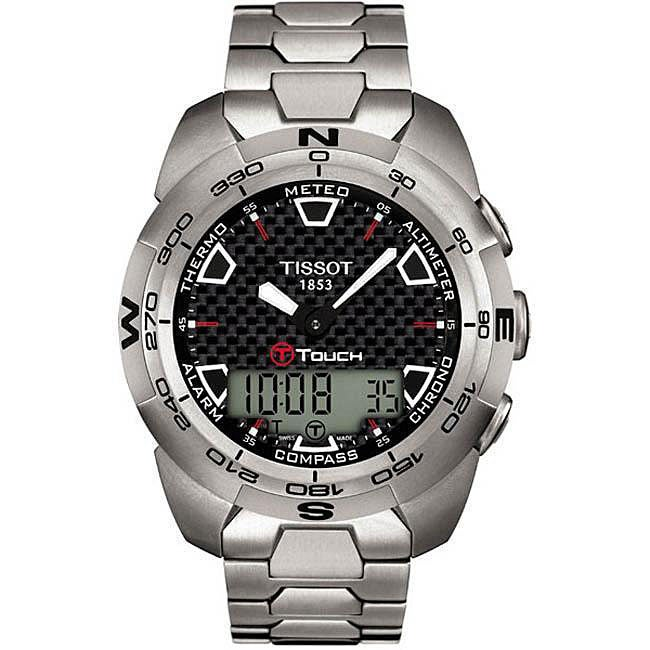 Tissot Men's T-Touch Chronograph Watch, Silver, Size One ...