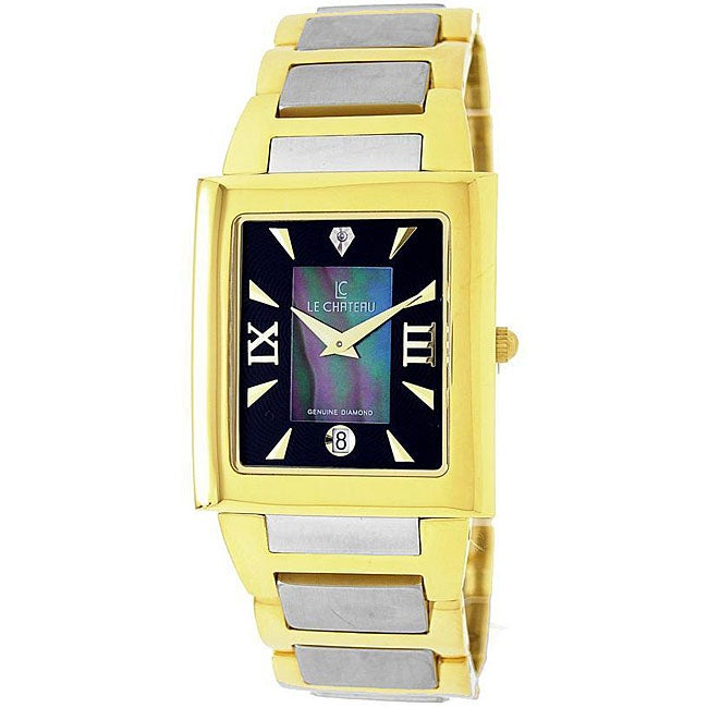 Le Chateau Men's Two-tone Diamond-accented Watch