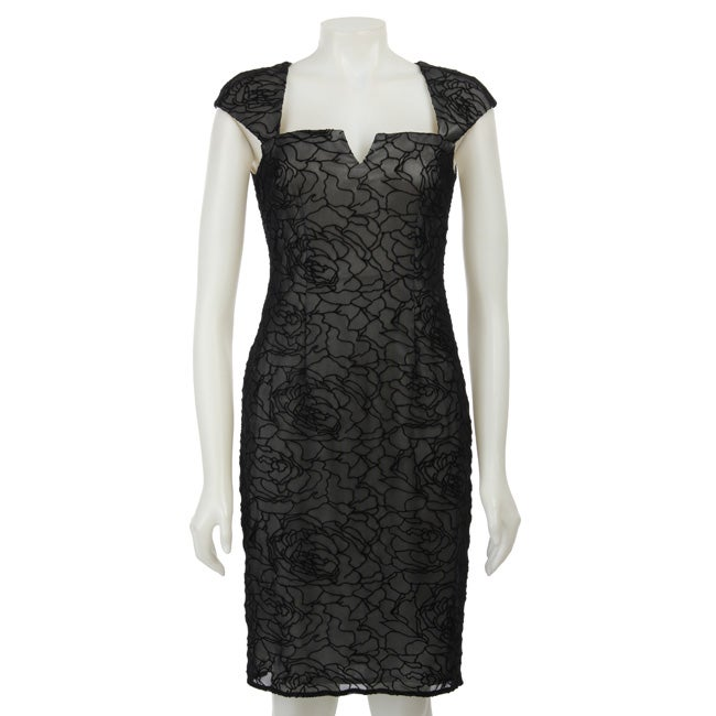 David Meister Women's Velvet Dress - Thumbnail 0