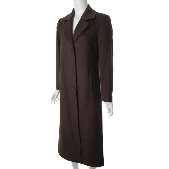 Jonathan Michael by Adi Women's Brown Wool Coat