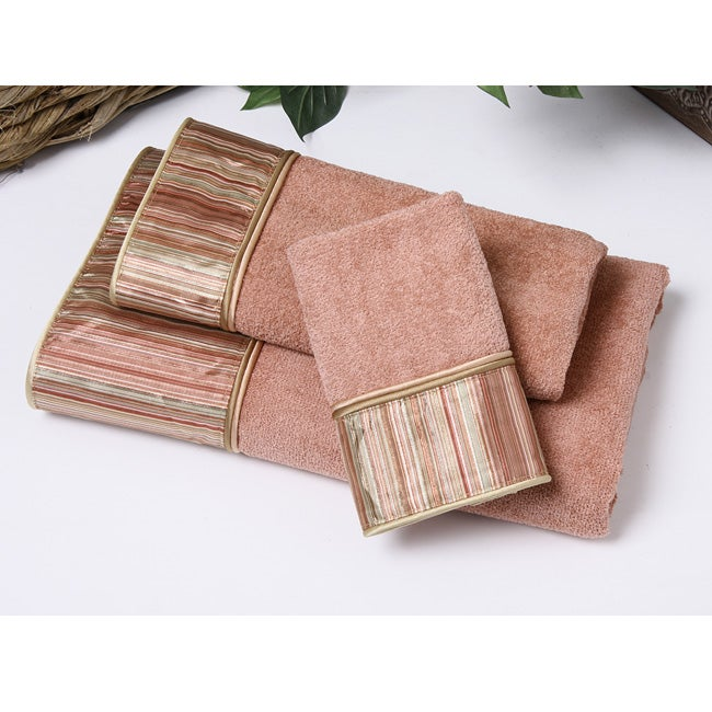Avanti Andrea Stripe Cinnamon 3-piece Towel Set