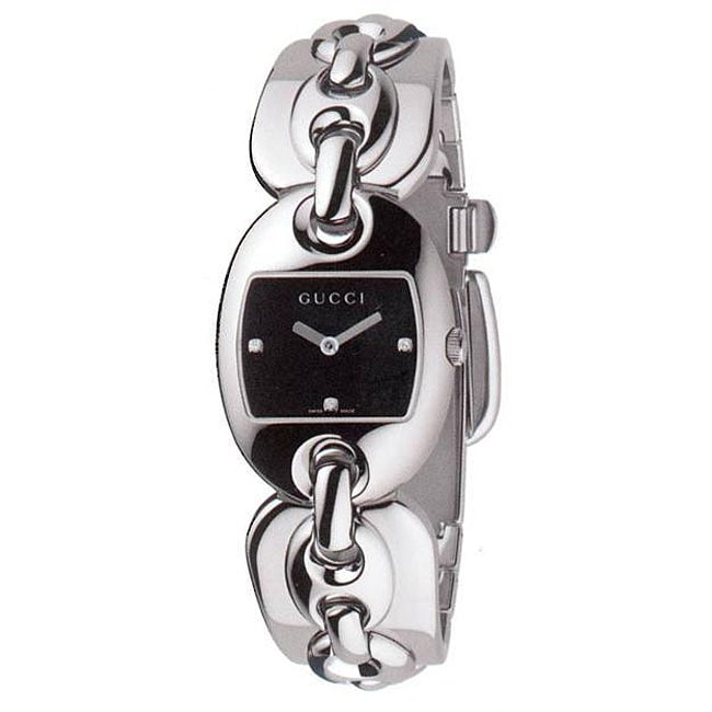 9d90a3a3822 Shop Gucci Women s 121 Marina Chain Small Diamond Watch - Free Shipping  Today - Overstock - 4364129