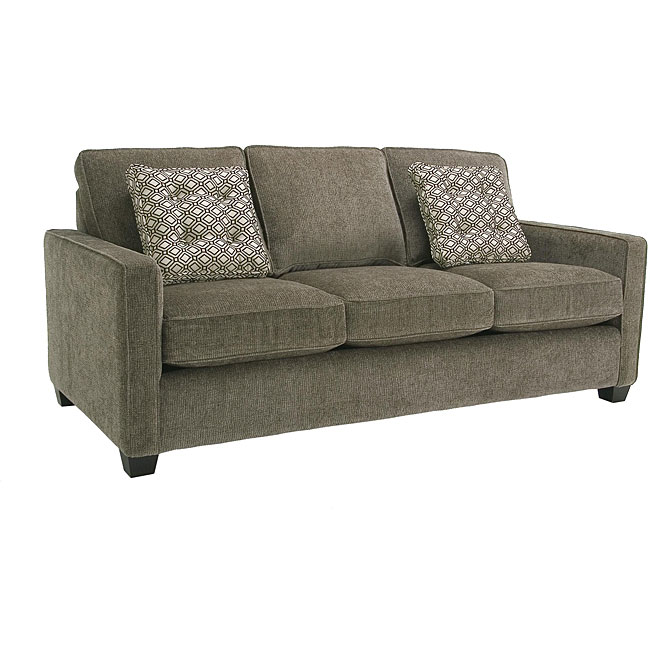 Enjoyable Calabria Graphite Grey Chenille Fabric Sofa Interior Design Ideas Clesiryabchikinfo