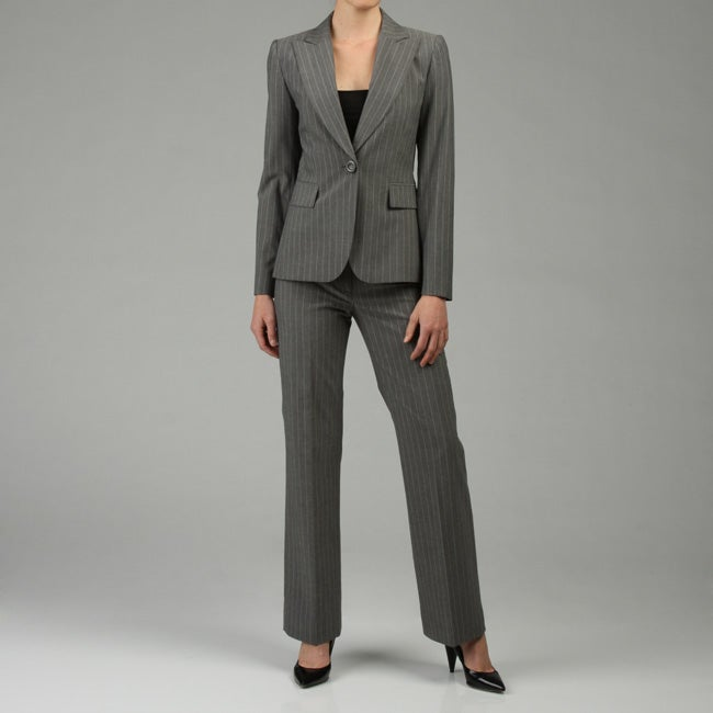 Model Gray Women Business Suits Formal Office Suits Work Women Pant Suits