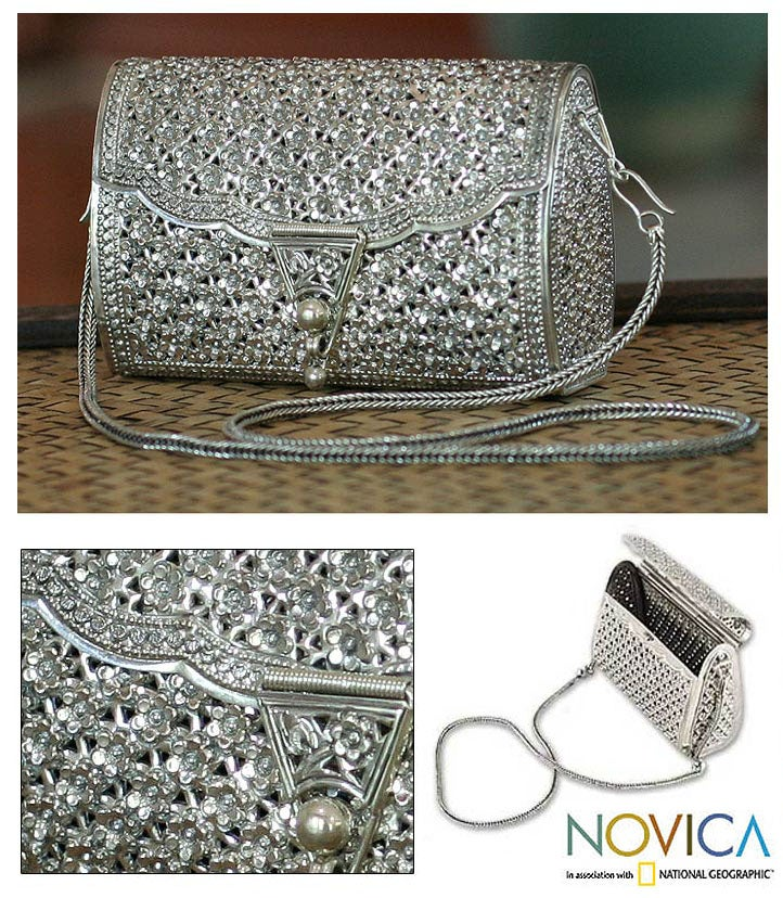 Sterling Silver 'Jasmine Forest' Purse (Thailand) - Thumbnail 0