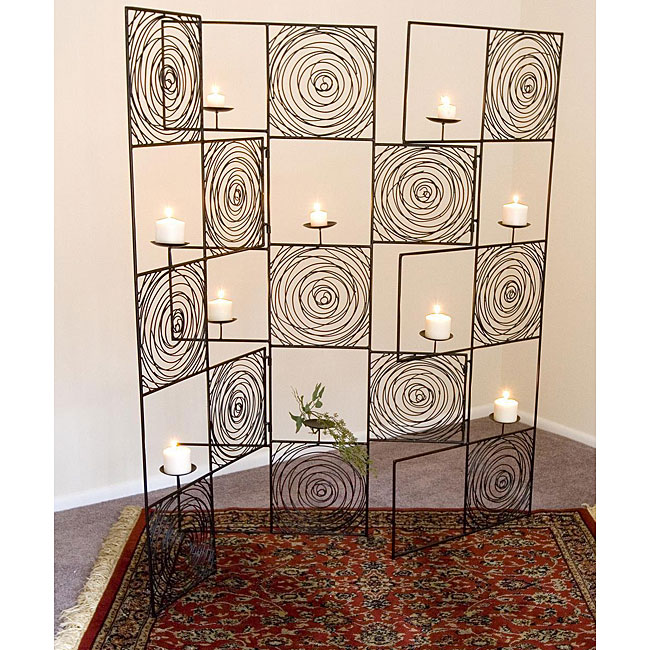 Wrought Iron Looping Room Divider