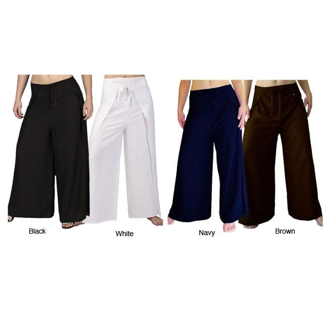 Women's Rayon Wrap-around Cabana Pants