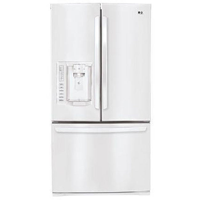 Shop Lg 27 6 Cubic Foot White French Door Refrigerator