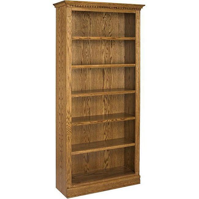 Oak 84 Inch Britania Bookcase Free Shipping Today Overstock Com 12337137