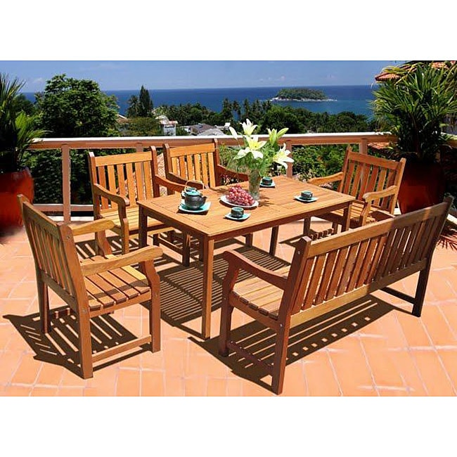 Softcross 6-piece Eucalyptus Dining Set