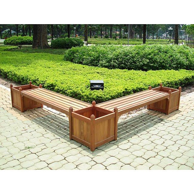 Double Bench/ Flower Box Set - Free Shipping Today - Overstock.com ...