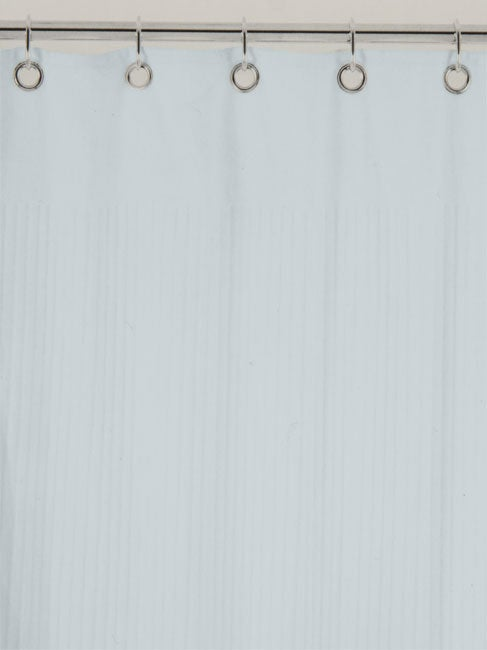 Ribbed Terry Cloth Ice Blue Shower Curtain