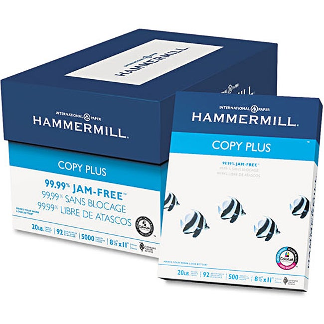 Hammermill 20-pound Letter White Copy Plus Copy Paper (Case of 5,000 Sheets)