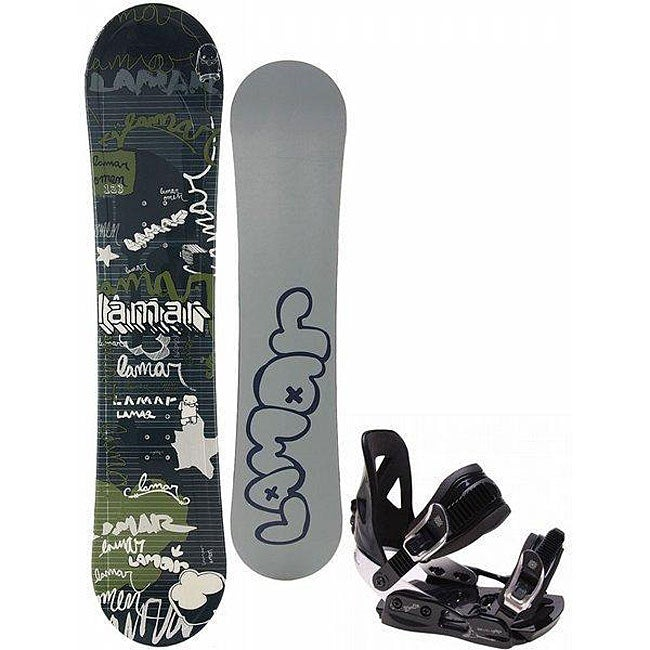 Shop Lamar Omens Youth 115 Cm Snowboard And MX100 Bindings