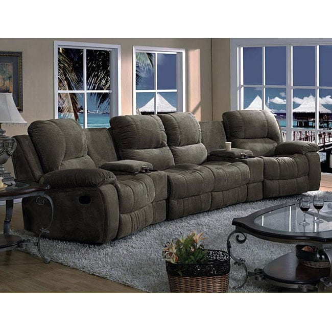 Furniture Of America Suede 5-piece Reclining Sectional