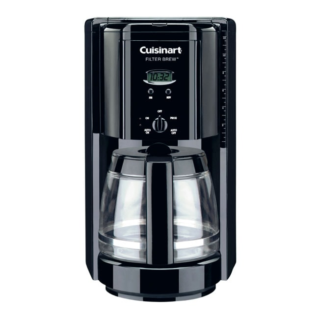 Cuisinart DCC-1000BK Programmable Filter Brew 12-cup Black Coffee Maker (Refurbished)