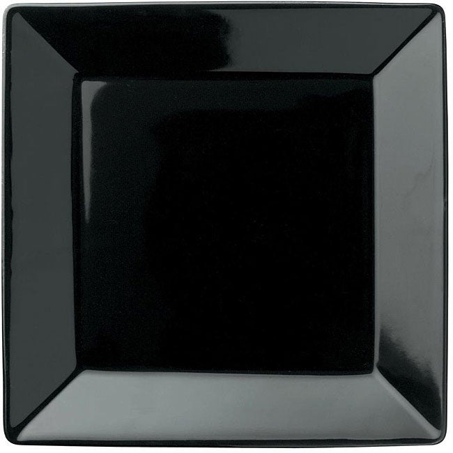 Waechtersbach Large Rimmed Black Square Plates Set Of 2