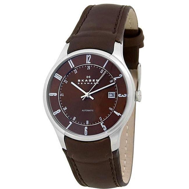 Shop Skagen Men S Stainless Steel Automatic Watch Free