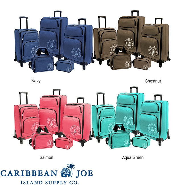 Caribbean Joe Coral Reef 5-piece Spinner Luggage Set