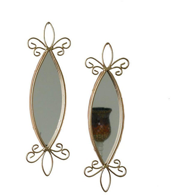 Tear Drop Wall-mount Mirror Set