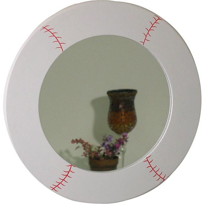 Baseball Design Round Mirror