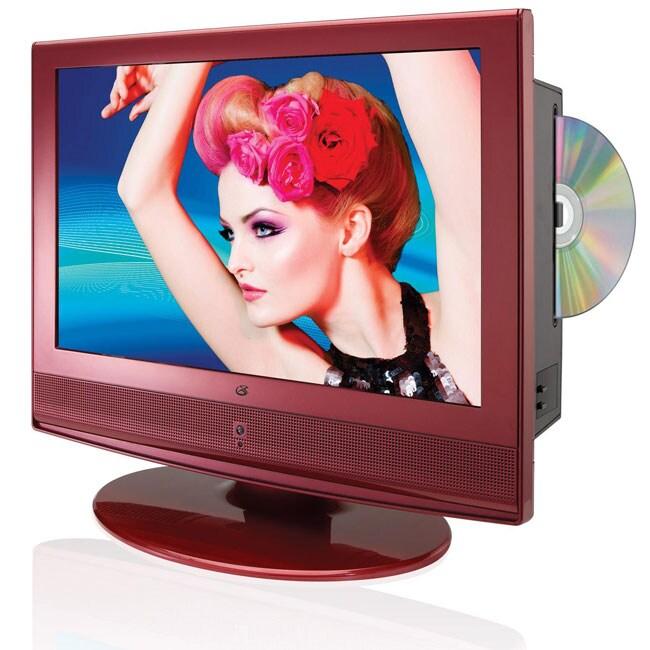 GPX TD1510R 15.4-inch Red HDTV/ DVD Player