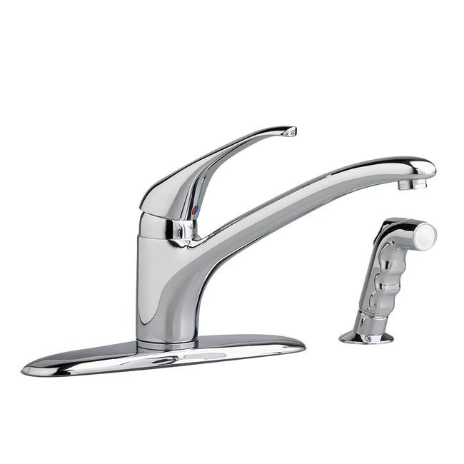 shop american standard elite single handle kitchen faucet free rh overstock com overstock stainless steel kitchen faucets overstock moen kitchen faucets