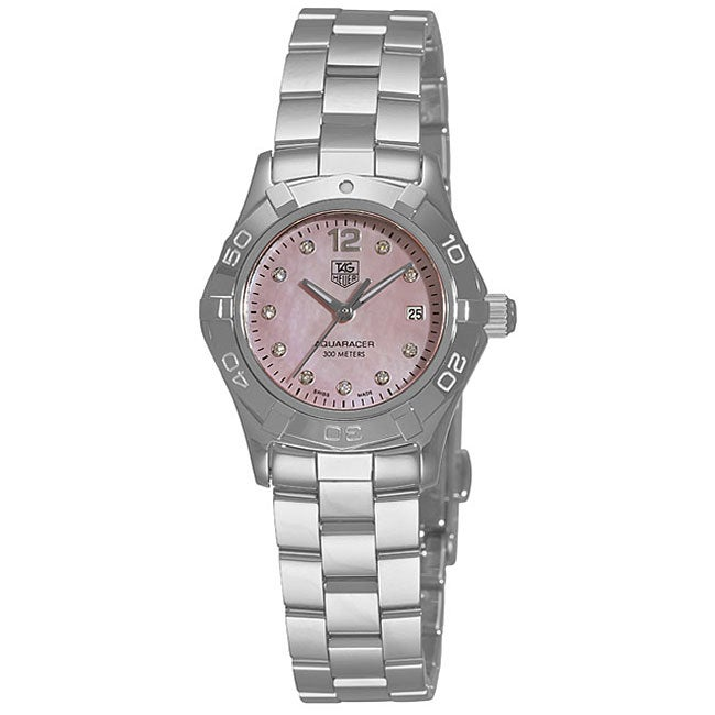 a7b1938a0c3 Shop Tag Heuer Women s Aquaracer Stainless Steel Pink Diamond Watch - Free  Shipping Today - Overstock.com - 4388265