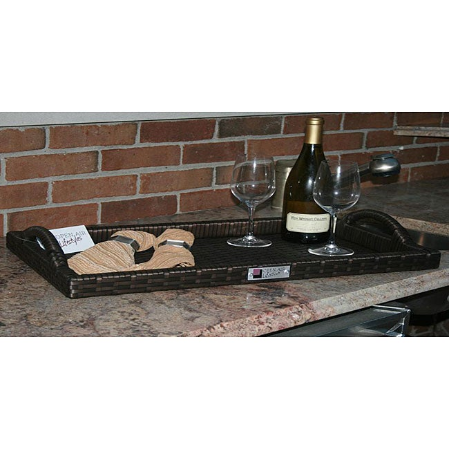 All Weather Wicker Outdoor Serving Tray Free Shipping On