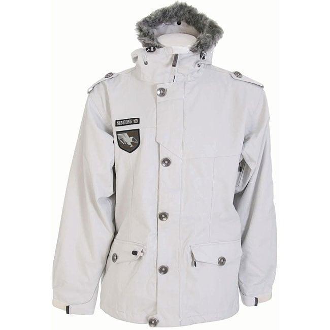 Sessions Recon Men's Lunar Heringbone White Snowboard Jacket