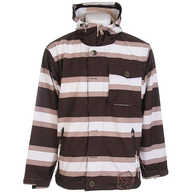 Sessions Flicker Men's Java Stripe Snowboard Jacket