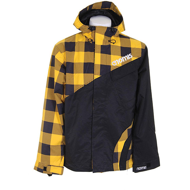 Nomis Touch Shell Men's Large Yellow Buffalo Snowboard Jacket