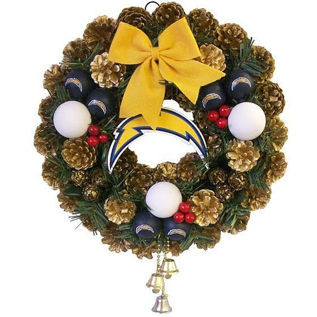 San Diego Chargers Fan Club: San Diego Chargers Christmas Wreath