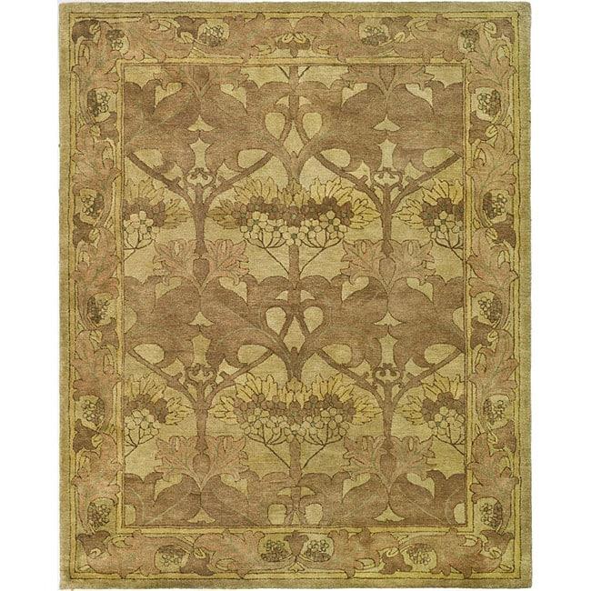 Safavieh Handmade Arts And Craft Beige Wool Rug 6 X 9