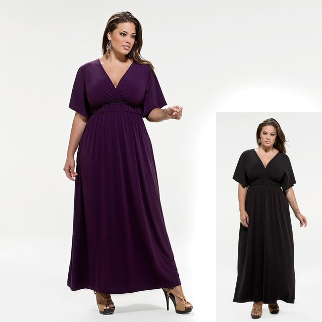 7628e6a92c Kiyonna Clothing Women's Plus Size Grecian Maxi Dress